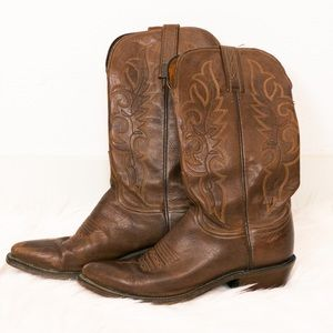 Lucchese Brown Leather Cowboy Boot Size 7.5
